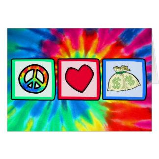 平和、愛、お金 カード