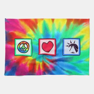 平和、愛、エジプト人 キッチンタオル