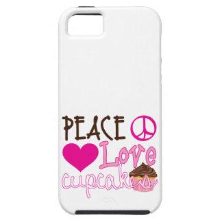 平和、愛、カップケーキ iPhone 5 タフケース