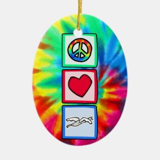 平和、愛、カモメ セラミックオーナメント