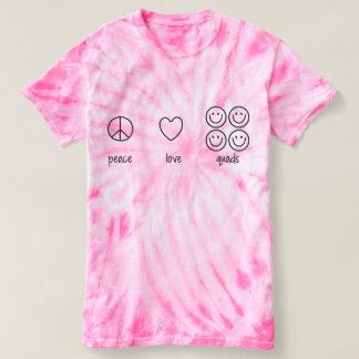 平和、愛、クォード(サイクロンのタイは死にます) Tシャツ
