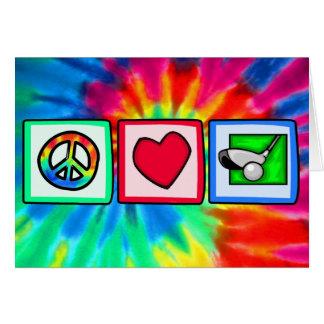 平和、愛、ゴルフ カード