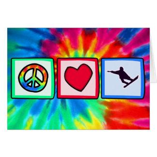 平和、愛、スノーボード カード