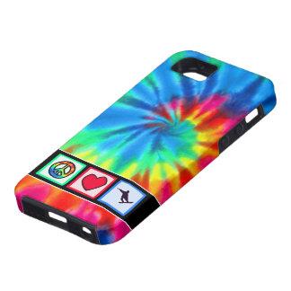 平和、愛、スノーボード iPhone SE/5/5s ケース
