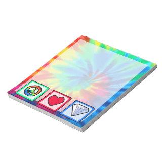 平和、愛、ダイヤモンド ノートパッド