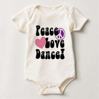 平和、愛、ダンス ベビーボディスーツ