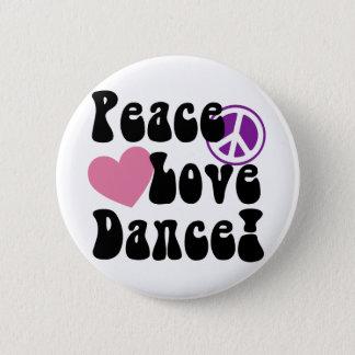 平和、愛、ダンス 5.7CM 丸型バッジ