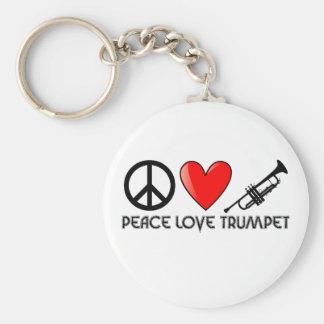 平和、愛、トランペット キーホルダー