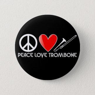 平和、愛、トロンボーン 5.7CM 丸型バッジ