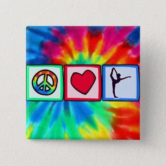 平和、愛、バレエ 5.1CM 正方形バッジ
