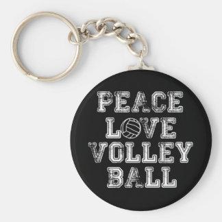平和、愛、バレーボール キーホルダー