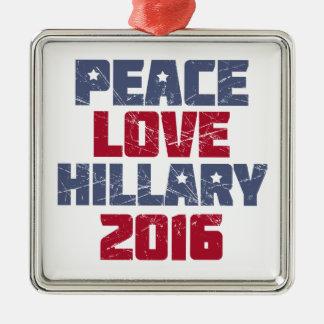 平和、愛、ヒラリー2016年 メタルオーナメント