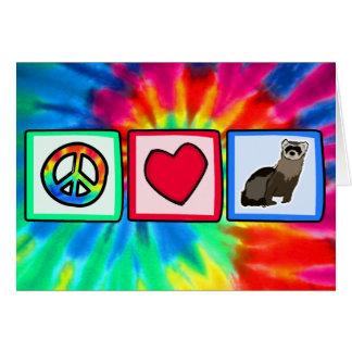 平和、愛、フェレット カード