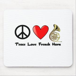 平和、愛、フレンチ・ホルン マウスパッド
