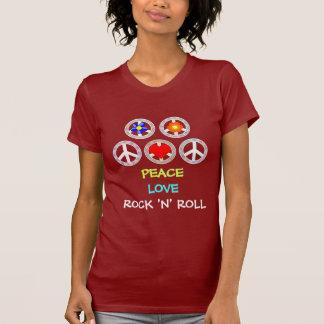 平和、愛、ロックンロール Tシャツ