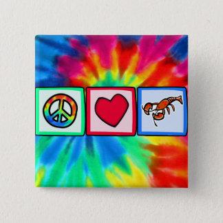 平和、愛、ロブスター 5.1CM 正方形バッジ