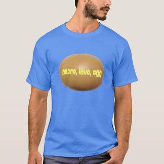 平和、愛、卵のワイシャツ Tシャツ