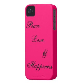 平和、愛、及び幸福 Case-Mate iPhone 4 ケース