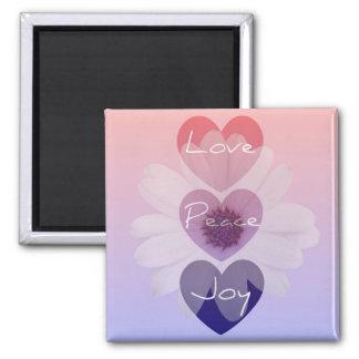 平和、愛、喜びの花の磁石 マグネット