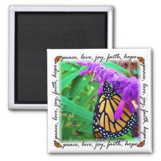 平和、愛、喜び、信頼、希望の磁石 マグネット