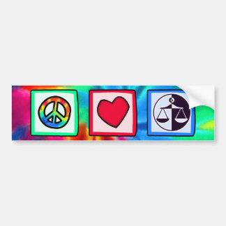 平和、愛、正義 バンパーステッカー