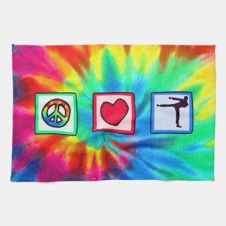 平和、愛、武道 キッチンタオル