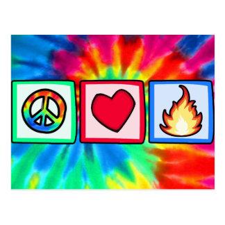 平和、愛、火 ポストカード