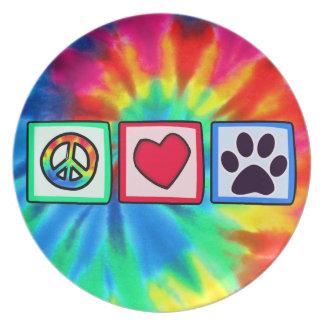 平和、愛、犬; Pawprint プレート