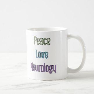 平和、愛、神経学 コーヒーマグカップ