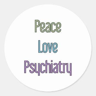 平和、愛、精神医学 ラウンドシール