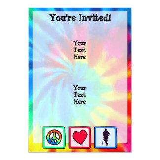 平和、|愛、|野球; 12.7 X 17.8 インビテーションカード