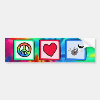 平和、愛、音楽; 絞り染め バンパーステッカー
