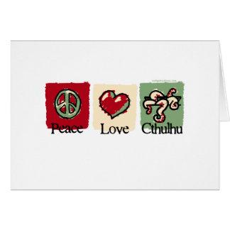 平和。 愛。 Cthulhu. カード