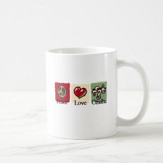平和。 愛。 Cthulhu. コーヒーマグカップ