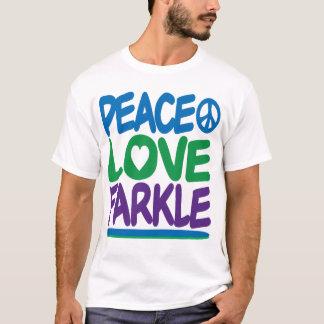 平和、愛、Farkle Tシャツ