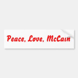 平和、愛、McCain バンパーステッカー