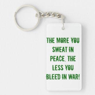 平和、戦争、軍隊、海軍、海兵隊員、空軍、裁ち切り キーホルダー