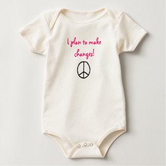平和、私は変更を行なうことを計画します! ベビーボディスーツ