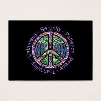 平和、調和、バランスのピースマーク 名刺