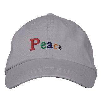 """""""平和""""調節可能な帽子によって刺繍される帽子 刺繍入りキャップ"""