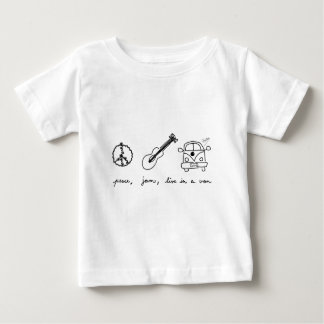 平和、込み合いはヴァンに、住んでいます ベビーTシャツ