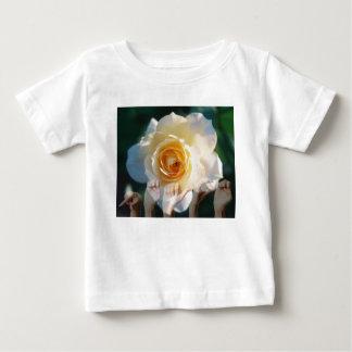 平和- ASLの白いバラ ベビーTシャツ