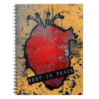 平和emoのハートの残り ノートブック