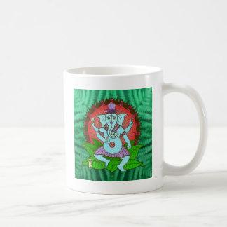 平和Ganeshの踊り コーヒーマグカップ