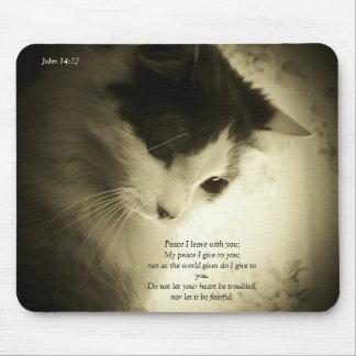 平和Iはジョンの14:27を与えます マウスパッド