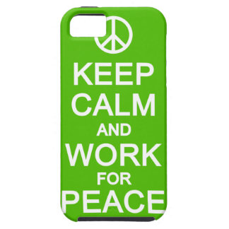 平和iPhone 5の穹窖のための平静及び仕事を保って下さい iPhone SE/5/5s ケース