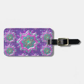 平和n喜び: 神聖な紫色の星の星座 ラゲッジタグ
