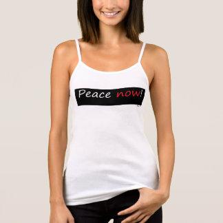 平和now1! Bella+キャンバスのFlowy Racerbackのタンクトップ タンクトップ