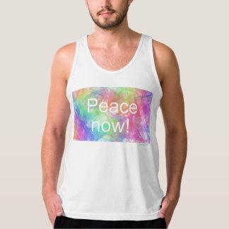 平和now2! アメリカの服装の罰金のジャージーのタンクトップ タンクトップ