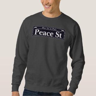 平和St.のニュー・オーリンズの道路標識 スウェットシャツ